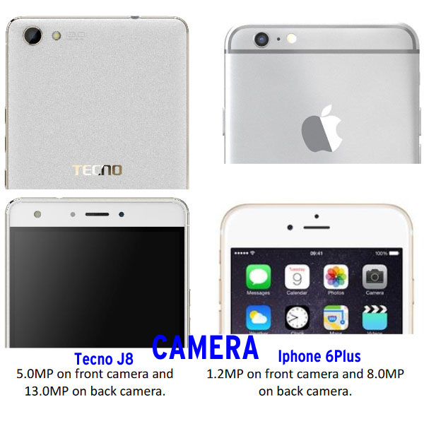 HOW TECNO BOOM J8 COMPARES TO IPHONE 6