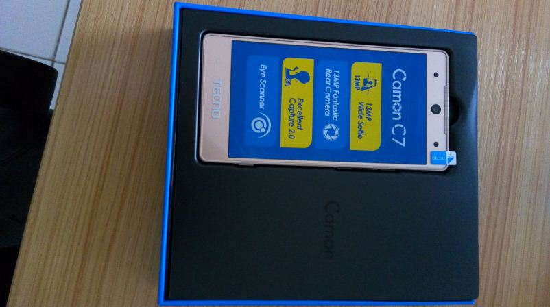 Tecno camon c7 in the box